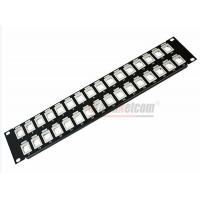 "Quality 19""  UTP/STP 32Port  Unload Modular Blank Patch Panel Available For Cat5e Cat6 Couplers and Keystone Jacks for sale"