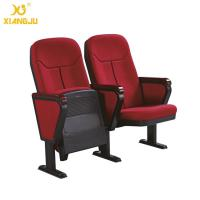 Wholesale Cold molded foam 560mm Fabric Folding Auditorium Chairs with Writing Table / PP Sheel Pan from china suppliers