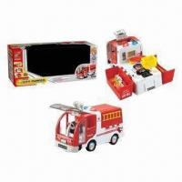 Wholesale B/O Bump and Go Assembling Fire Engine Toys, Made of ABS Material, 0.23CBM from china suppliers