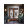 Buy cheap Wood frame dedorative  Glass Sliding Door , Black Patina Internal Glass Sliding Doors from wholesalers