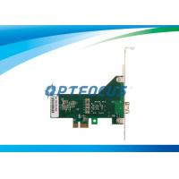 Wholesale Fiber PC Network Adapter Card Gigabit Ethernet Adapter 1 Port 35°C 90% Storage Humidity from china suppliers