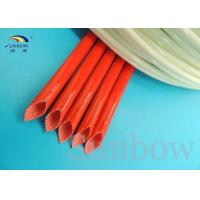 Wholesale 2753 Silicone Fiberglass Sleeving , Fiber Glass Silicon Resin Sleeving UL from china suppliers
