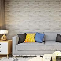 Wholesale 3D Brick Effect Contemporary Style Vinyl Wall Covering 0.53*10M from china suppliers