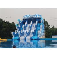Wholesale Blue / White Inflatable Giant Commercial Dry Slide With Frame Pool 3 - 5 Years Lifespan from china suppliers