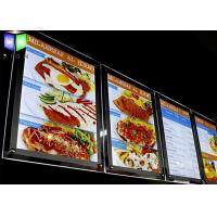 Wholesale Advertisement Crystal LED Menu Light Box , Backlit Menu Board Light Box 24 x 36 from china suppliers