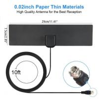 Buy cheap Amplifier Indoor Digital TV Antenna , Indoor Television Aerials F Male from wholesalers