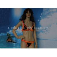 Wholesale Orange And Black Crochet Swimwear 2 Piece Crochet Halter Bikini For Younger Girls from china suppliers