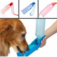 Wholesale 500ml Blue/Red/Pink pet drinking fountain Potable Pet Dog Cat Water Feeding Drink Bottle from china suppliers