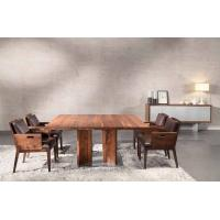 Wholesale Large Wood Furniture Dining Table And Chairs Natural Black For Office from china suppliers