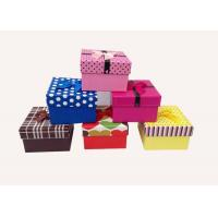 Quality Elegant Paperboard Gift Boxes Durable , Flat Pack Cardboard Decorative Boxes for sale