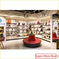 Wholesale Fashion Designs Wood Shoe Rack Shelves Showcase with lighting decorated from china suppliers