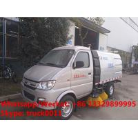 Buy cheap 2018s new design cheapest Chang'an gasoline 4*2 4 wheels mini road sweeping vehicle for sale, street sweeper truck from wholesalers