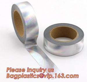 Wholesale foil washi tape holographic foil washi tape,Gold Laser Decorative Reflective Customized Washi Tape,Decorative Adhesive T from china suppliers