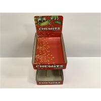 Tangerine Cardboard Display Shelves , Two - Tier Table Top Paper Display Cases