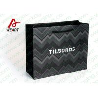 Wholesale Shirt Shop Black Custom Branded Paper Bags With Logo Matte Lamination Suface from china suppliers