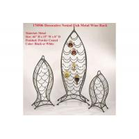 Wholesale Decorative Nested Fish Metal Wine Rack from china suppliers