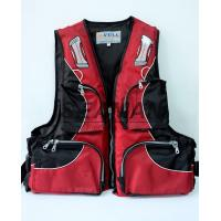 Wholesale 100N Red Water Sport Fishing Life Jacket With Oxford Nylon Adult Rigid Foam from china suppliers