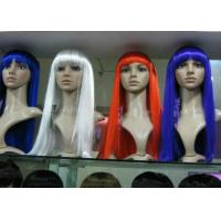 Wholesale Colored White Blue Red Purple Silky Straight Long Synthetic Wigs For Women from china suppliers