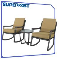 Wholesale Rocking Chair 3pc Rattan Garden Furniture Sets Comfort To Your Porch from china suppliers