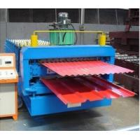 Wholesale 0.3 - 0.8mm  Colour Steel Double Layer Roll Forming Machine High Speed 15m/min Fully Automatic from china suppliers