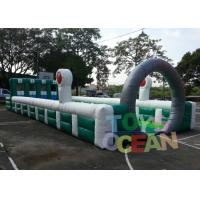 Quality Giant Funny Team Sport Inflatable Pony horse Racing Run Field Human Bowling Track for sale