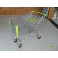 Wholesale 150L Zinc Plated Supermarket Shopping Carts , Steel Shopping Trolleys On Wheels from china suppliers