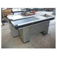 Quality Convenience Shop Conveyor Belt Checkout Counter With Stainless Steel Material for sale