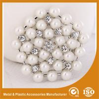 Wholesale Antique Jewelry Handmade Metal Brooches , White Pearl Brooches from china suppliers