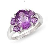 Wholesale Amethyst diamond ring from china suppliers