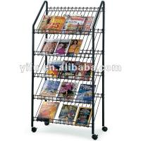 Wholesale 020514 Floor Standing Magazine Display Rack from china suppliers