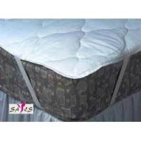 Buy cheap Custom Water Proof Quilted White Microfiber Hotel Mattress Pad Covers with Zipper from wholesalers