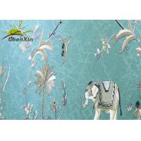 Wholesale Decorative Embroidery Fabric Wall Covering For Study Seamless Split Joint from china suppliers