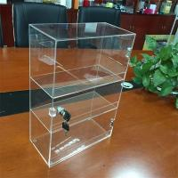 Wholesale Customized clear 3 tiers counter acrylic display box with lock wholesale from china suppliers