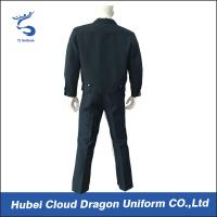 Quality Comfortable Custom Navy Tactical Security Guard Uniform With Permanent Collar Stays for sale