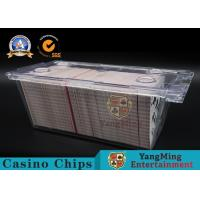 Wholesale Clear Acrylic 1 - 8 Deck Playing Card Box 300pcs Free Locks With Metal Handle from china suppliers