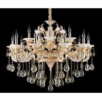 Wholesale White Glaze and Jade Contemporary Crystal Chandeliers 15 Lights from china suppliers