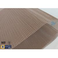 Wholesale Brown PTFE Coated Fiberglass Mesh Fabric 580G 4x4MM High Strength Conveyor Belt from china suppliers