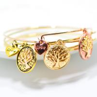 Wholesale Special wholesale New style Women Jewelry Tree Of Life Alloy  Expandable Bangle Gold Bangles Designs from china suppliers