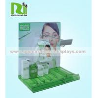 Wholesale Green color corrugated cardboard display stand shelf with hooks from china suppliers