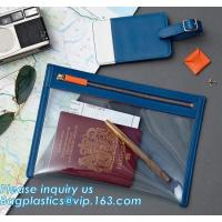 China Eco-friendly promotion gifts PVC colorful passport bag,Clear Passport Bag and ID badge holder with neck lanyard bagease on sale