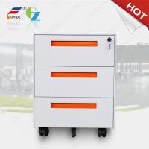 Buy cheap 3 drawer Mobile pedestal cabinet FYD-H001,sliver color,five casters,3 section slideway for promotion from wholesalers