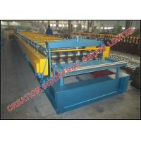 Quality Shallow Trapezoidal Composite Metal Floor Deck Roll Forming Machine for sale