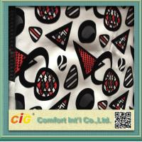 Wholesale Funiture Print PU Synthetic Leather Fabric 0.8mm Flocking Design from china suppliers