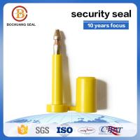 China ISO17712 tamper proof one-time used yellow green white blue bolt seals manufacture B104 on sale