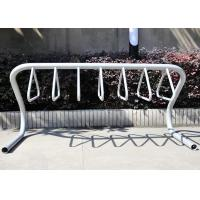 Wholesale Silver Grey Gravity Bike Stand , Bicycle Floor Rack For Storage from china suppliers