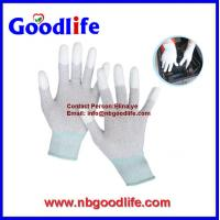 Wholesale Sale well 13G Fingertrip PU Gloves Safety Gloves from china suppliers