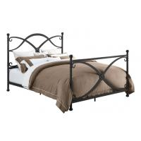 Quality Bedroom Full Size Vintage Style Metal Beds Elegant Iron With Paint Finished for sale