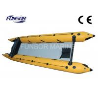Wholesale PVC 6 Person Inflatable 4.8m Boat Zapcat Boat With Aluminum Floor from china suppliers