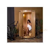 Wholesale Ball and socket western Canadian red cedar Small Modern Silo Sauna with Electric heater from china suppliers