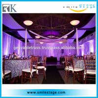 wedding backdrop adjustable uprights and telescopic crossbars and base plates